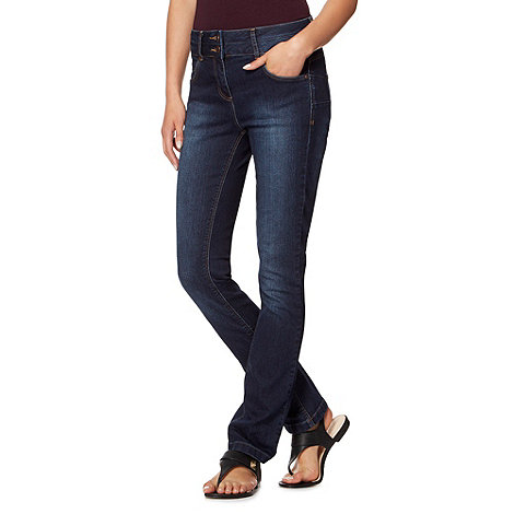 J by Jasper Conran - Designer mid blue straight shape enhancing jeans