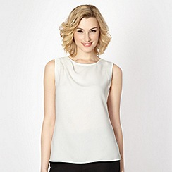 J by Jasper Conran - Designer ivory pleated shoulder top
