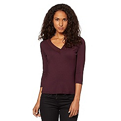 J by Jasper Conran - Designer purple V neck mesh top