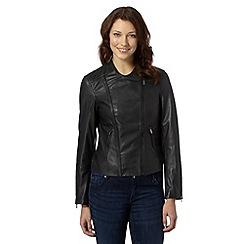 J by Jasper Conran - Designer black leather biker jacket