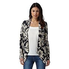 J by Jasper Conran - Designer navy floral printed soft jacket