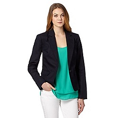 J by Jasper Conran - Designer navy linen blend jacket