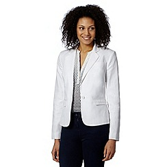J by Jasper Conran - Designer white linen blend jacket