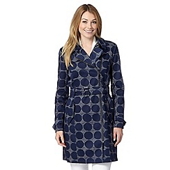 J by Jasper Conran - Designer navy circle print mac coat
