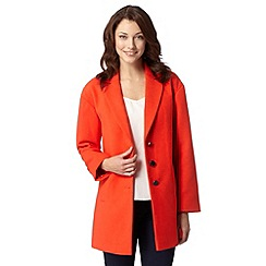 J by Jasper Conran - Designer orange reefer jacket