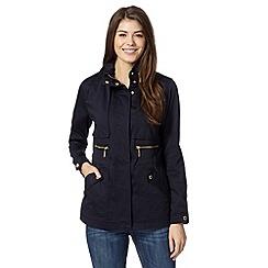 J by Jasper Conran - Navy trim zip through jacket