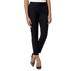 J by Jasper Conran - Designer navy linen blend slim leg trousers