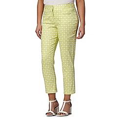 J by Jasper Conran - Designer lime geometric print trousers