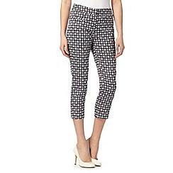 J by Jasper Conran - Designer navy geometric print trousers