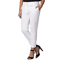 J by Jasper Conran - Designer white textured cropped chinos