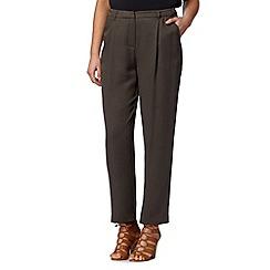 J by Jasper Conran - Designer khaki soft trousers
