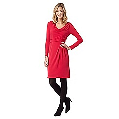 J by Jasper Conran - Designer dark pink cowl jersey dress