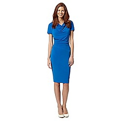 J by Jasper Conran - Designer bright blue draping jersey dress