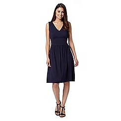 J by Jasper Conran - Designer navy V neck jersey dress