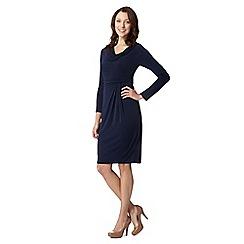 J by Jasper Conran - Designer navy cowl neck draped dress