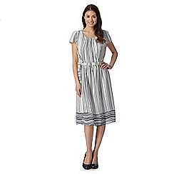 J by Jasper Conran - Designer navy striped border dress