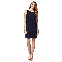 J by Jasper Conran - Designer navy broderie shift dress