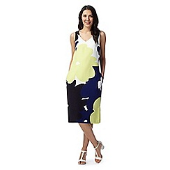 J by Jasper Conran - Designed lime bloom print dress