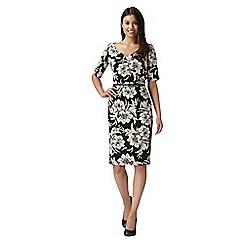 J by Jasper Conran - Designer navy floral printed dress