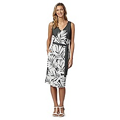 J by Jasper Conran - Designer khaki leaf print dress