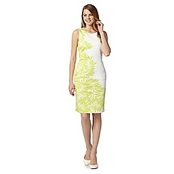 J by Jasper Conran - Designer cream palm tree print dress