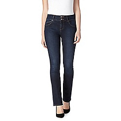 J by Jasper Conran petite - Rinse wash petite shape enhancing high-waisted straight leg jeans