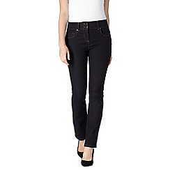 J by Jasper Conran - Dark blue shape enhancing high-waisted straight leg jeans