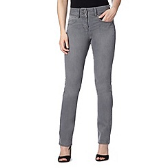 J by Jasper Conran - Designer grey high waisted shape and lift straight leg jeans