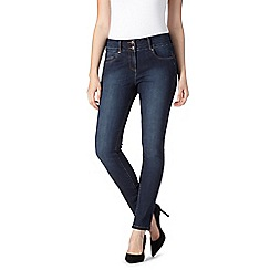 J by Jasper Conran - Dark blue shape enhancing high-waisted skinny jeans