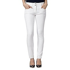 J by Jasper Conran - Designer white high waisted shape and lift skinny jeans