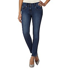J by Jasper Conran petite - Designer mid blue high waisted shape and lift skinny petite jeans
