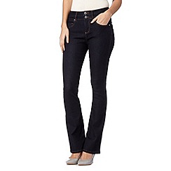 J by Jasper Conran - Designer dark blue high waisted shape and lift bootcut jeans