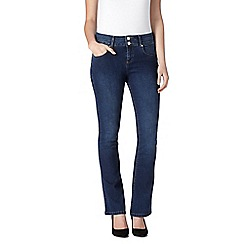 J by Jasper Conran - Designer mid blue high waisted shape and lift bootcut jeans