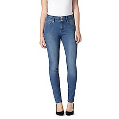 J by Jasper Conran - Light blue shape enhancing high-waisted skinny jeans