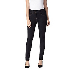 J by Jasper Conran - Designer dark blue high waisted shape and lift skinny jeans