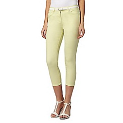 J by Jasper Conran - Designer lime belted denim crops