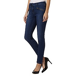 J by Jasper Conran - Dark blue skinny ankle grazer jeans
