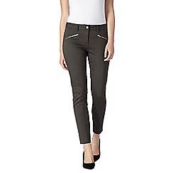 J by Jasper Conran - Khaki skinny ankle grazer jeans