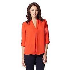 J by Jasper Conran - Designer orange V neck top