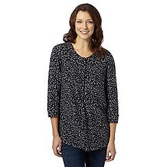 J by Jasper Conran - Designer navy spotted blouse