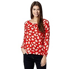 J by Jasper Conran - Designer red leaf print blouse