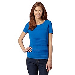 J by Jasper Conran - Designer bright blue pleated top