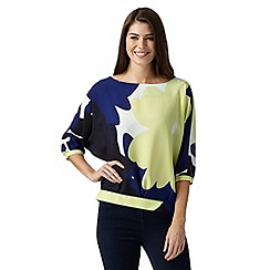 J by Jasper Conran - Designer lime bloom print top
