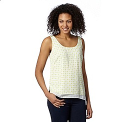 J by Jasper Conran - Designer lime double layer geometric vest
