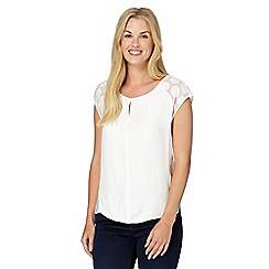 J by Jasper Conran - Designer white spotted burnout top