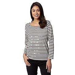 J by Jasper Conran - Designer dark grey sequin striped top