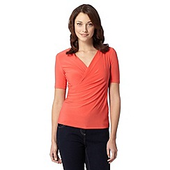 J by Jasper Conran - Designer orange cowl neck draped top