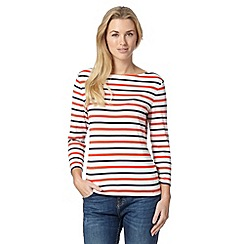 J by Jasper Conran - Designer orange striped jersey top