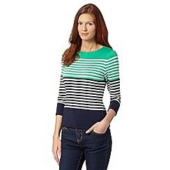 J by Jasper Conran - Designer bright green striped back placket top