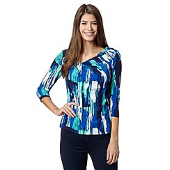 J by Jasper Conran - Designer blue paint stroke print top